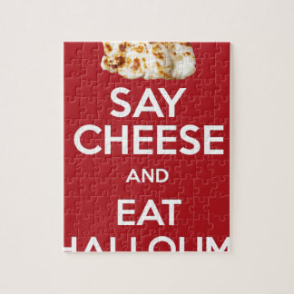 EAT HALLOUMI GREEK CHEESE JIGSAW PUZZLE
