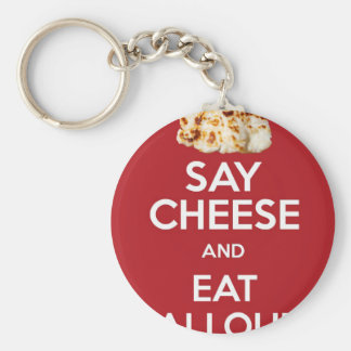 EAT HALLOUMI GREEK CHEESE KEYCHAIN
