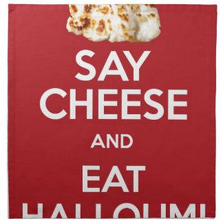 EAT HALLOUMI GREEK CHEESE NAPKIN