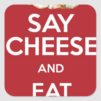 EAT HALLOUMI GREEK CHEESE SQUARE STICKER