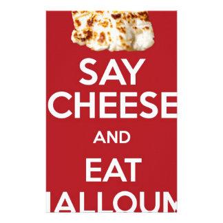 EAT HALLOUMI GREEK CHEESE STATIONERY