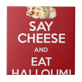 EAT HALLOUMI GREEK CHEESE TILE