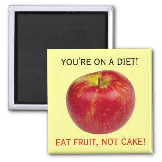 Eat Healthy Apple Fruit Food Diet Reminder Square Magnet