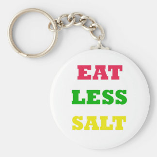 EAT LESS SALT KEYCHAIN