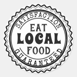 Eat Local Food, Satisfaction Guaranteed Sticker