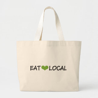 Eat Local Large Tote Bag