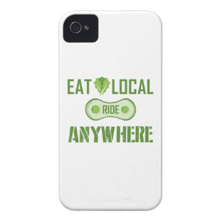 Eat Local, Ride Anywhere iPhone 4 Case