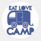 EAT LOVE CAMP CLASSIC ROUND STICKER
