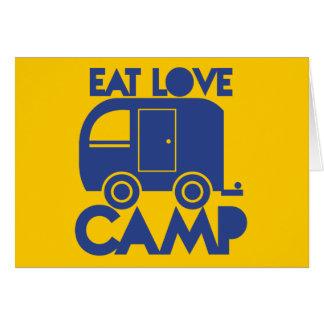 EAT LOVE CAMP GREETING CARD