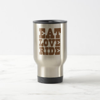 EAT LOVE RIDE Horse riding funny Coffee Mugs