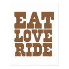 EAT LOVE RIDE Horse riding funny Postcard