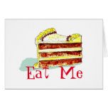 Eat Me birthday card, male female funny sexy Greeting Card