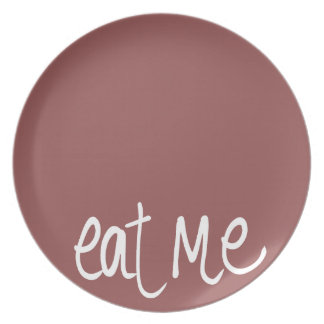 Eat Me (cocoa-rev) Party Plates