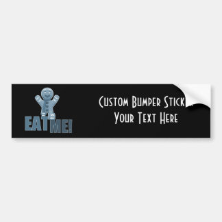EAT ME Gingerbread Man - Blue Bumper Stickers