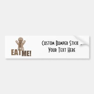 EAT ME Gingerbread Man - Brown Sepia Bumper Sticker