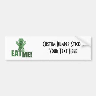 EAT ME Gingerbread Man - Green Bumper Sticker
