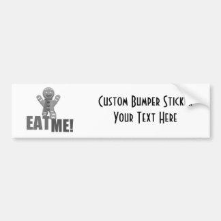 EAT ME Gingerbread Man - Grey B W Bumper Stickers