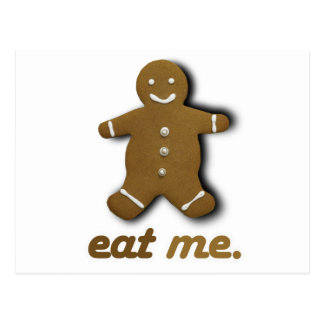 EAT ME GINGERBREAD - png Postcards