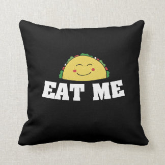 Eat me taco throw pillow