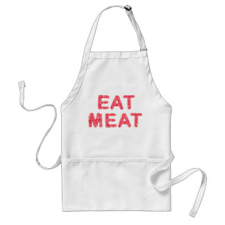 Eat meat meaty text standard apron