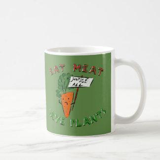 EAT MEAT MUG (Protesting carrot)