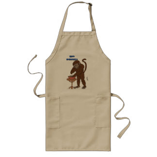 Eat Monkey Appron Long Apron