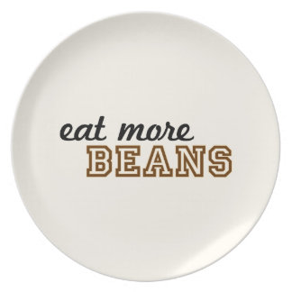 """Eat More Beans"" Plate"