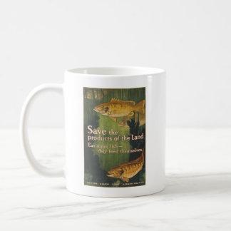 Eat More Fish - Vintage WW1 Poster Coffee Mug