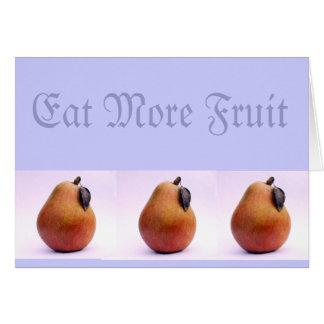 Eat More Fruit Card