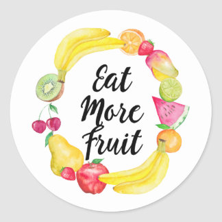 Eat more fruit classic round sticker