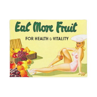 Eat More Fruit for Health and Vitality Vintage Doormat