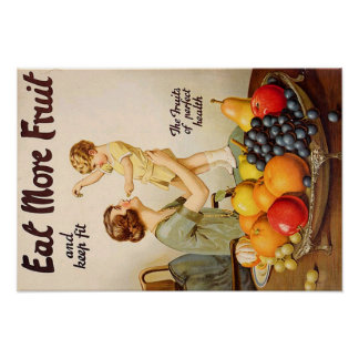EAT MORE FRUIT poster