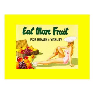 Eat More Fruit - Vintage Advertisement ca 1940s Postcard