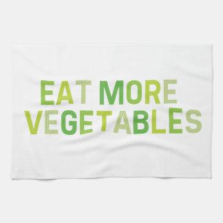 Eat more vegetables Tea Towel
