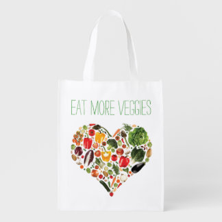 Eat More Veggies Reusable Grocery Bag