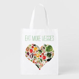 Eat More Veggies Reusable Grocery Bag