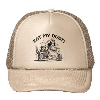 eat my dust, old man biker cap, funny caps trucker hat