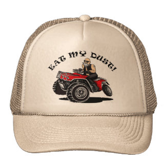 eat my dust, old man on 4 wheeler funny hats