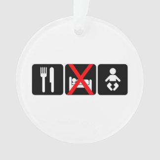 Eat No Sleep Baby Ornament