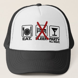 Eat - No Sleep - Party hat, choose color Trucker Hat