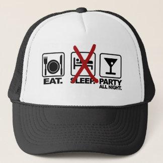 Eat - No Sleep - Party hat, choose color Trucker Hat
