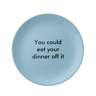 'Eat off it' plate