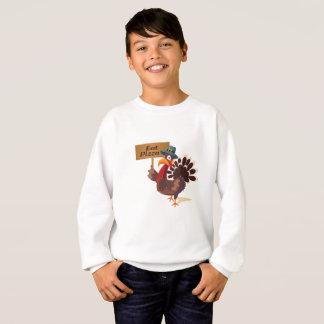 Eat Pizza Turkey Funny Thanksgiving Sweatshirt