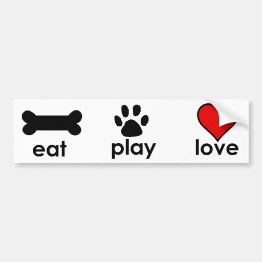 Eat.Play.Love. Adhésif Pour Voiture