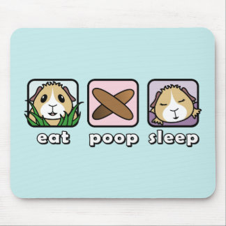 Eat Poop Sleep Guinea Pig Mousemat Mouse Pad