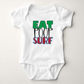 Eat Poop Surf Baby Bodysuit