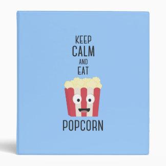 Eat Popcorn Z6pky 3 Ring Binders