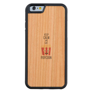 Eat Popcorn Z6pky Carved Cherry iPhone 6 Bumper Case