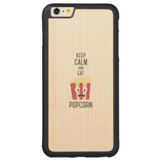 Eat Popcorn Z6pky Carved Maple iPhone 6 Plus Bumper Case