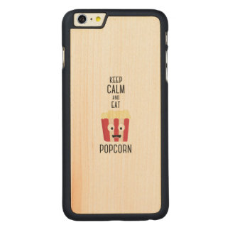 Eat Popcorn Z6pky Carved Maple iPhone 6 Plus Case